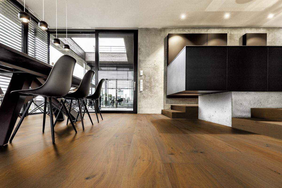 ter Hürne Avatara 3.0 Perform 2717 Eiche Gemma 6 mm Bio-Designboden MultiSens Protec Klicksystem Raumbild Küche
