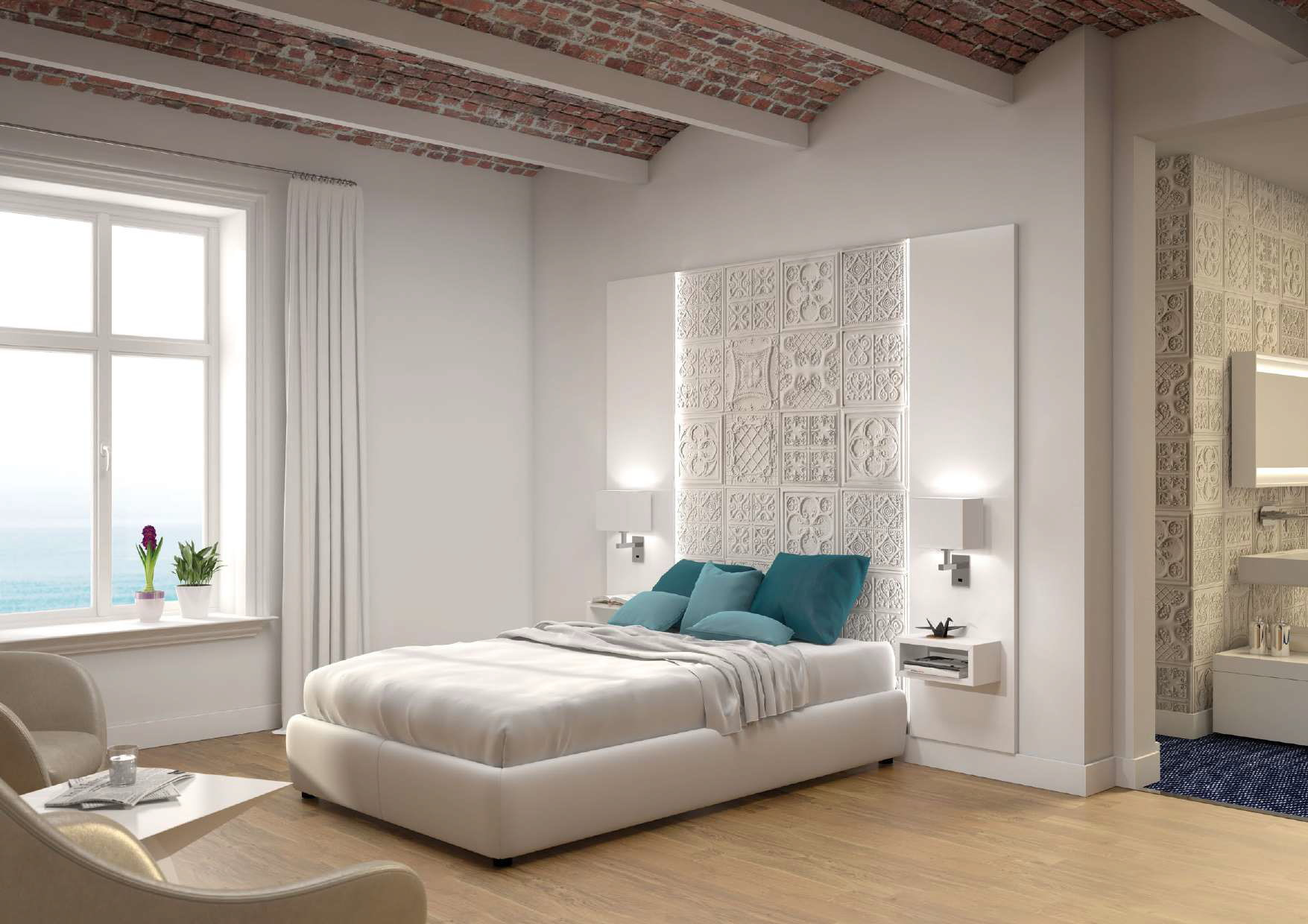 PanelPiedra Vintage Veralles Blanco Italia Wandverkleidung Wandpaneele