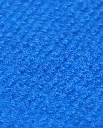 Profi Rips Teppichboden für Messen und Events mit Latex-Rücken blau 100 % Polypropylen, 3 mm Stärke, Rollenbreite 2 m, Rollenlänge 50 m Messeteppich schnell und günstig, Farbcode: 4853