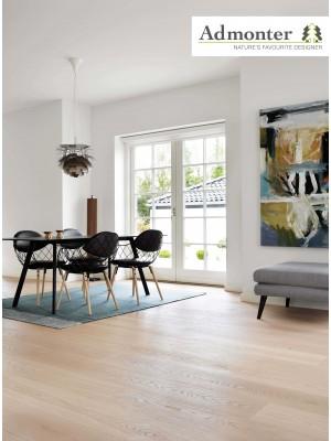Admonter Floors Eiche superbianco, elegance, braun gekittet, gebürstet 3-Schicht Parkett, Landhausdiele, geölt lock it 2000 x 192 x 15 mm, Nutzschicht 3,6 mm, geölt