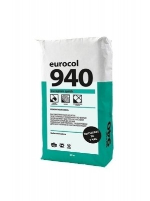 Forbo eurocol Spachtelmasse 940 Europlan Quick Ausgleichsmasse Zement schnellhärtend standfest bis 50 mm, 25 kg