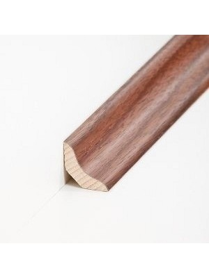 Südbrock Sockelleiste Holzkern Nussbaum lackiert Hohlkehlleiste, Holzkern mit Echtholz furniert