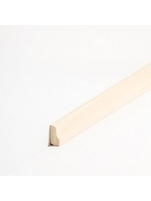 Südbrock Sockelleisten Vorsatz Roh Massivholz Vorsatzleisten, Profiliert, Abachi sbs82600