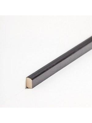 Südbrock Sockelleisten Vorsatz Schwarz Massivholz Vorsatzleisten, Abachi sbs82229