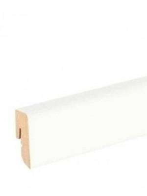Haro Sockelleiste weiß Echtholz Fußbodenleiste 16 x 40 x 2500 mm