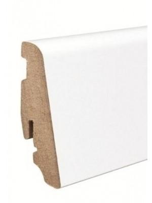 Haro Sockelleiste weiß Parkett Echtholz Fußbodenleiste 58 x 19 x 2200 mm