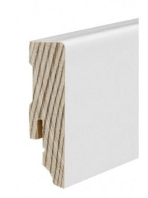 Haro Sockelleiste weiß Echtholz Fußbodenleiste 16 x 58 x 2700 mm