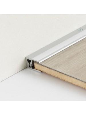 Parador Abschlussprofil Silber für Laminat und Design-Bodenbeläge