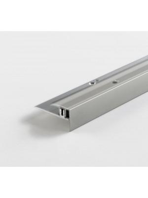 Parador Treppenkantenprofil Silber für Parkett-Bodenbelag
