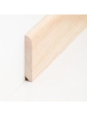 Südbrock Sockelleiste Massivholz Esche lackiert Massivholz Holz-Fussleiste, Oberkante abgerundet