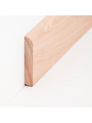 Südbrock Sockelleiste Massivholz Buche roh Massivholz Holz-Fussleiste, Oberkante abgerundet