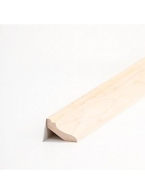 Südbrock Sockelleiste Massivholz Ahorn lackiert Massivholz Hohlkehlleiste, Profiliert
