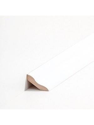 Südbrock Sockelleiste Massivholz Buche decked weiß lackiert Massivholz Hohlkehlleiste, Schmetterlingsprofil