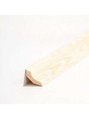 sbs6031313 Südbrock Sockelleisten Massivholz Kiefer lackiert Massivholz Hohlkehlleiste, Kantiges Profil