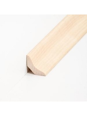 Südbrock Sockelleiste Holzkern Esche lackiert Hohlkehlleiste, Holzkern mit Echtholz furniert