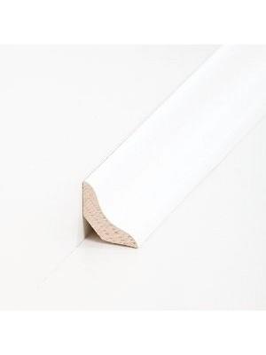 Südbrock Sockelleiste Holzkern Esche weiß lackiert Hohlkehlleiste, Holzkern mit Echtholz furniert
