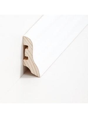Südbrock Sockelleiste Holzkern Esche weiß lackiert Holz-Fussleiste, Holzkern mit Echtholz furniert