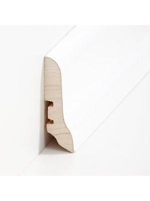 Südbrock Sockelleisten Holzkern Esche weiß lackiert Holz-Fussleiste, Holzkern mit Echtholz furniert sbs226031