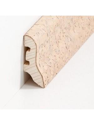 Südbrock Sockelleiste Holzkern Kork creme grob Fussleiste, Holzkern, Kork ummantelt, lackiert sbs224055