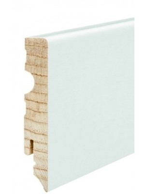 Haro Sockelleiste weiß Echtholz Fußbodenleiste 15 x 80 x 2400 mm