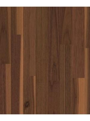 Weitzer Parkett WP 450 Nussbaum gedämpft lebhaft bunt 2-Schicht Fertigparkett Verklebung mit Unterboden in Stab-Optik, ProActive+