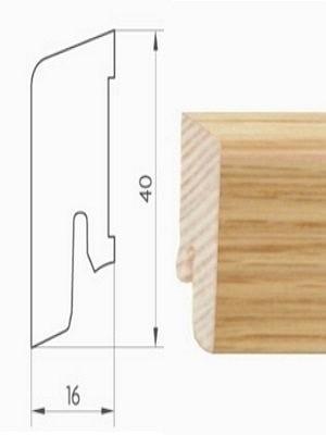 Weitzer Sockelleiste für Parkett furniert 16 x 40 x 2500 mm