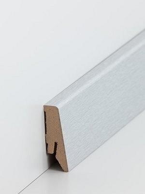Südbrock Sockelleiste MDF Aluminium Fussleiste, MDF-Kern mit Dekorfolie ummantelt