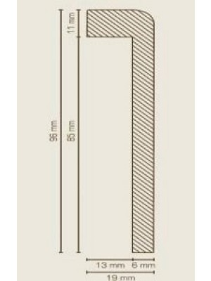 Südbrock Sockelleiste MDF Stahl natur Abdeckleiste für Fliesensockel, MDF-Kern mit Folie ummantelt