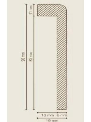 Südbrock Sockelleiste Titan Abdeckleiste für Fliesensockel, MDF-Kern mit Folie ummantelt