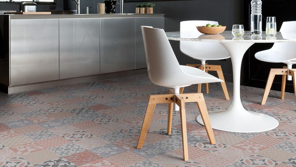 Guter Bodenbelag für die Küche : Nostalgischer Gerflor Texline Vinylboden Ocre 1956