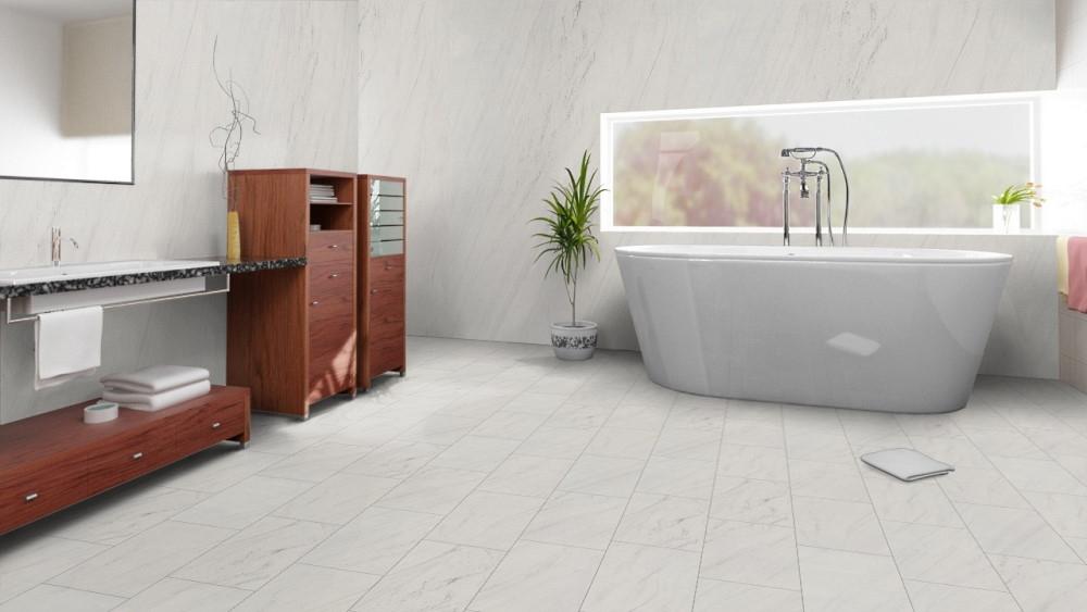 Samera White Pearl Bodenbelag und Wandbelag aus echtem Sandstein für echten Luxus in ihrem Badezimmer oder Wellnessbereich